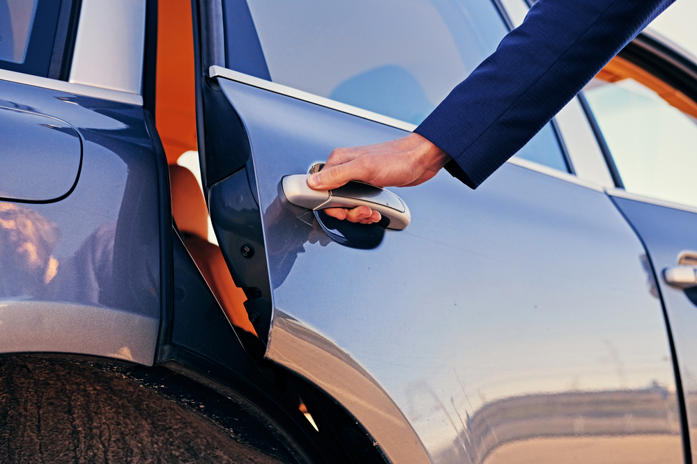 Customer using car service in Monmouth County